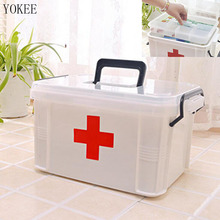 YOKEE Small Family Home Medicine Chest Cabinet Health Care Plastic Drug First Aid Kit Box Storage Box Chest of Drawers