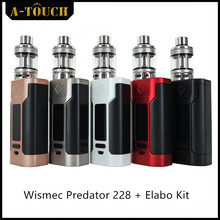100% Original Wismec Predator 228 Elabo Kit Powered by Dual Replaceable 18650 cells whose max output 228W/50A with High Quality