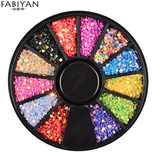 1mm Nail Art Wheel Sequins Round 3D Tips Decoration Colorful Wafer DIY Design Manicure Tools Accessories Jewelry Gel UV Polish(China)