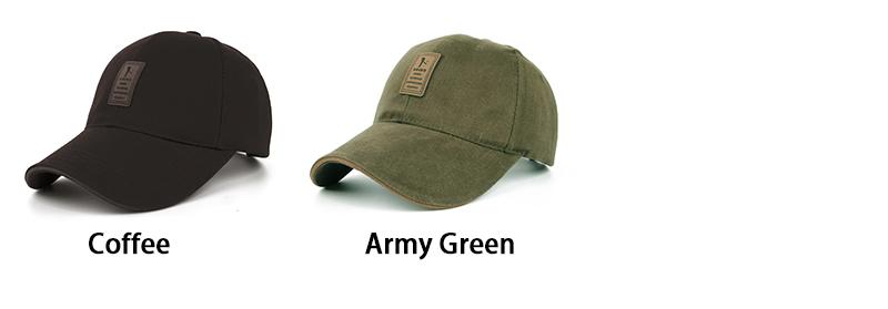 Golfer Emblem Baseball Cap - Coffee and Army Green Colors
