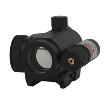 (Ship From US) Rail Hunting Tactical 22 Mm Reflex Green Red Dot Sight Scope And Laser Combo Tactical Accessory C1(China)