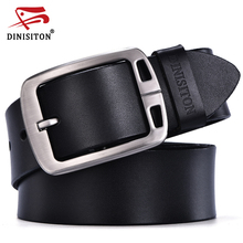 DINISITON mens cow genuine leather man belt luxury strap male belts for men new fashion vintage pin buckle Designer belt brand(China)