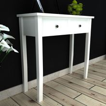 vidaXL White Dressing Console Table with Two Drawers(China)