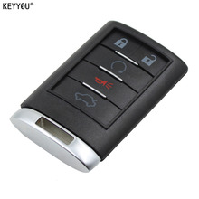 KEYYOU New Replacement Shell Remote key Case Fob 5 Button For CADILLAC ATS SRX STS CTS DTS