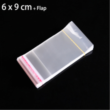 200pcs 6 x 9cm Clear Jewelry Packaging Bags Poly OPP Plastic Bag For Snack Candy Cookie Package Small Gift Bag