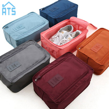 Portable Waterproof Shoes Bag Organizer Storage Pouch Pocket Packing Cubes Handle Nylon Zipper Bag for Travel(China)