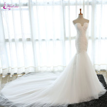 Buy Waulizane Hot Selling Sweetheart Mermaid Wedding Dresses Appliques Soft Tulle Chapel Train Shoulder Vintage Bride Dress for $215.28 in AliExpress store