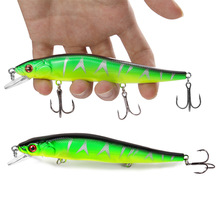 YTQHXY 14cm 23g Fishing Lure Minnow Hard Bait with 3 Fishing Hooks Fishing Tackle Lure 3D Eyes YE-8