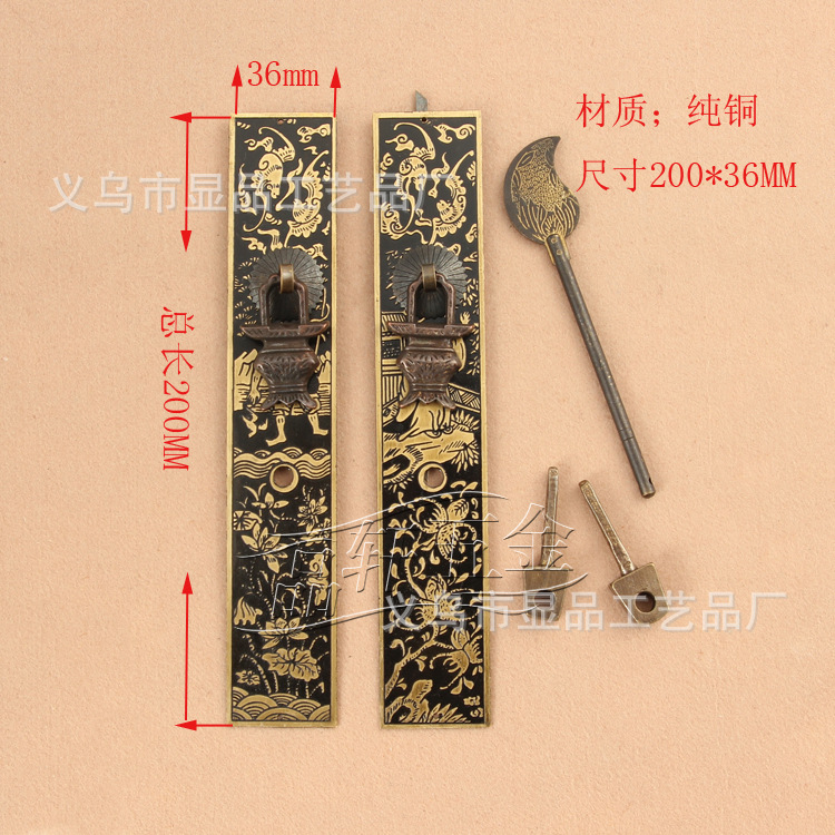 Ming and Qing antique furniture factory direct copper fittings copper straight furniture accessories<br><br>Aliexpress