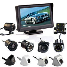 Viecar 4.3 Inch Auto Parking System HD Car Rearview Mirror Monitor with 170 Degrees Waterproof for rear view camera(China)