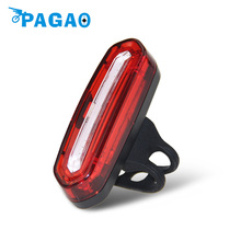 PAGAO 100 LM Rechargeable COB LED USB Mountain Bike Tail Light Taillight MTB Safety Warning Bicycle Rear Light Bicycle Lamp 0163