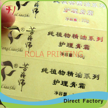 Customized metal canner food stickers(China)