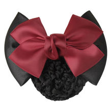 1 X Fine Women Lady Girls Bow Barrette Hair Clip Cover Bowknot Hairpin Bun Snood Hair Accessories(China)
