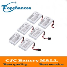 6pcs 800mAh 3.6V 3*AAA Ni-MH Rechargeable Cordless Home Phone Battery for Uniden BT-446 BP-446 BT-1005 BT1005 DCT646 DCT646-2