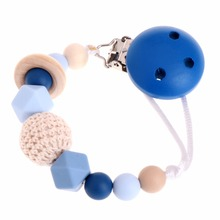 Buy OOTDTY Baby Silicone Teething Dummy Pacifier Clip Bead Infant Soother Nipple Strap Chain for $2.18 in AliExpress store