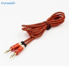 Ouhaobin New 3.5mm Male to Male Car Aux Auxiliary Cord Stereo Audio Cable For Phone iPod Android Mobile Phone PC Oct27(China)