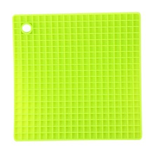Hot Pads 7-inch Silicone Pot Holder Trivet Mat Jar Opener Spoon Rest Non Slip Flexible Durable Heat Resistant