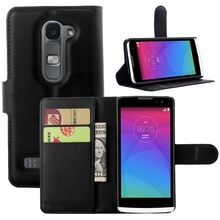 For LG Leon C40 case cover ,New 2014 fashion luxury filp Lychee leather wallet stand phone case cover cell phones