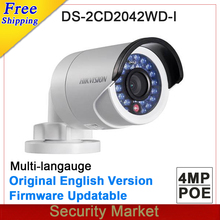 Original hikvision English version DS-2CD2042WD-I 4MP Replace DS-2CD2035-I DS-2CD2032-I DS-2CD2032F-I CCTV IP bullet POE camera(China)