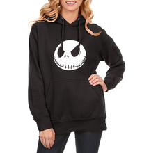Pumpkin King Jack Skellington Evil Smile Streetwear Sweatshirt For Women Hip Hop 2017 Spring Winter Fleece Women's Hoodies Hot(China)
