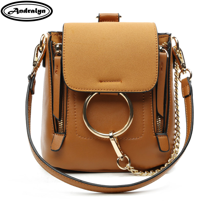 Andralyn  ring metal mini women backpack PU leather for female young girl preppy style female girls school bags ladies backpack<br>