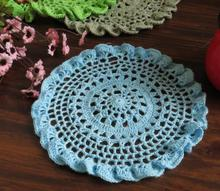 DIY Cotton Lace place table mat pad cloth Coaster crochet cup round office doilies placemat mug holder dining kitchen accessory