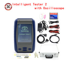 DHL Free Intelligent Tester 2 For Toyota IT2 Tester2 Auto Diagnostic Tool IT2 FOR toyota With Oscilloscope Best tool for toyota(China)