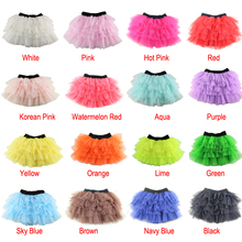 Rushed Ribbons New Arrival Girls Tutu Skirts Kids Baby Fashion Skirt Childrens Pettiskirt Ballet For Girl Free Shipping(China)