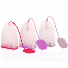 1PCS Hot Selling Bag Style Silicone Tea Strainer Herbal Spice Infuser Filter Diffuser Kitchen Coffee Tea Tools(China)
