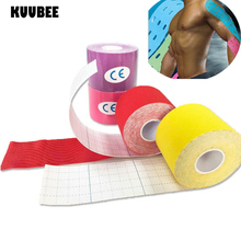 KUUBEE (100pcs/lot) Sports individual water resistance Kinesio tape Therapy Muscle Stickers Tape Bandage Strain Injury Support
