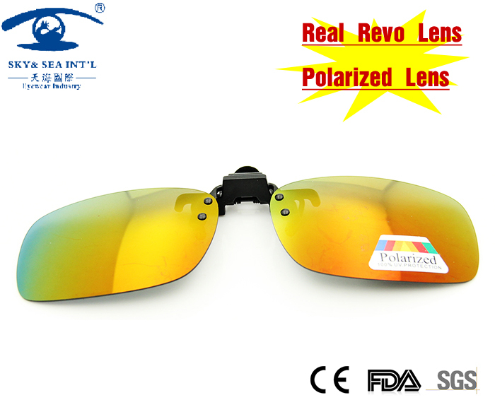 NEW Summer Style UV Protection Polarized Clip on Glasses Sunglasses Women Men Revo Red Lens with Case Sunglass Flip up<br><br>Aliexpress