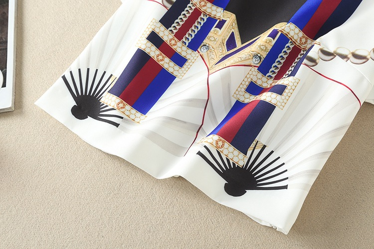 High Quality 17 Designer Runway Suit Set Women's Two Piece Casual Tops + Fashion Print Mid Calf Pants Set suit Free DHL Aramex 14