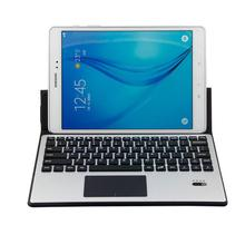 New Bluetooth keyboard leather case for Samsung Galaxy Tab S3 protective cover with Aluminum Alloy keyboard with touchpad