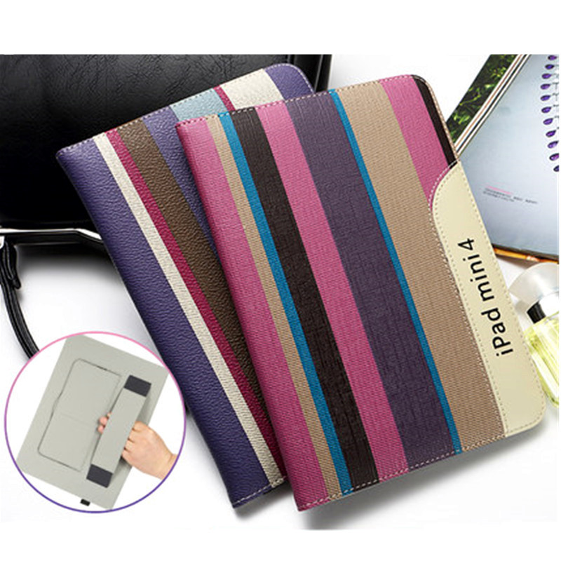Fashion Smart Cover for iPad Mini 4 Ultra Thin PU Leather Case Flip Stand Cover for iPad Mini 4 with Card Slot Hand Strap Holder<br><br>Aliexpress