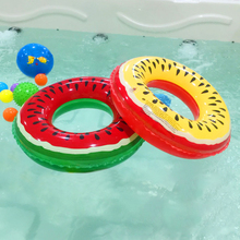 Summer Fruit Pattern swimming circle For Baby Swimming Pool Accessories PVC inflatable watermelon Children Kids Swim Ring(China)