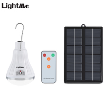 Lightme 20 LEDs Dimmable Solar Panel Powered Light Lamp with Remote Controller for Garden Yard Camping Hiking Outdoor Use(China)
