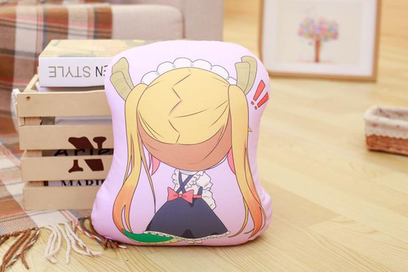 Miss Kobayashi's Dragon Maid Cosplay Kanna Kamui Plush Doll Toy Pillow Soft Cute Dragon Stuffed Cushion Gift Two-side 32x30cm (2)
