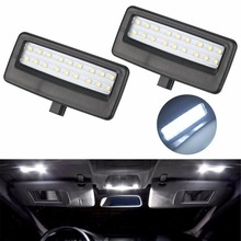 2Pcs Car Styling Auto LED Vanity Mirror Lamp Reading Lights Bulbs for BMW F10 F11 F07 F01 F02 F03 5 Series  7 Series Xenon White