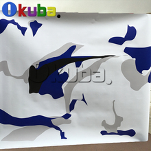 Black White Blue Camo Film Decal Sticker Custom Wrap Camouflage Vinyl Car Wrapping Foil Truck Vinyl Wrap 1.52*30m/roll
