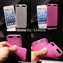 Cheapest  Fashion Soft TPU Case for iPod Touch 5 silicone back cover phone Case for TOUCH 5 back cover case with 6 colors 10pcs