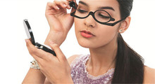 Women's Makeup Reading Glasses With Magnifying Flip-up Lens Demi Tortoise Cosmetics Glasses Diopter +1.5 - +4.00 10Pcs/Lot