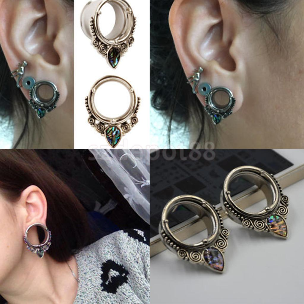 PAIR of Acrylic Lace Design Ear Plugs//Tunnels 8mm
