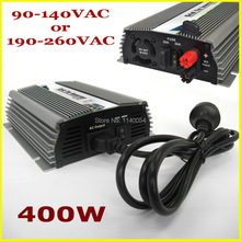 400W 10.5-28VDC MPPT Grid Tie Inverter for 400-480W 18V PV Panels, 90-140V or 190-260V Pure Sine Wave Solar Power Inverter 400W
