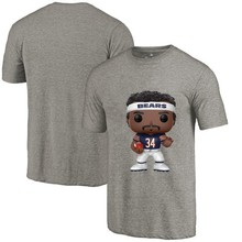 New Style Men's Summer T-Shirt, Bears Fans Chicago 34 Walter Payton Cartoon Figure Picture Printing Classical O-neck T Shirt(China)