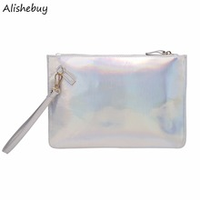 Fashion Women Wallet Small PU Leather Coin Holder Lady Purse Female Dress Party Shine Wallet Clutches Bag Pink Silver SVN031174