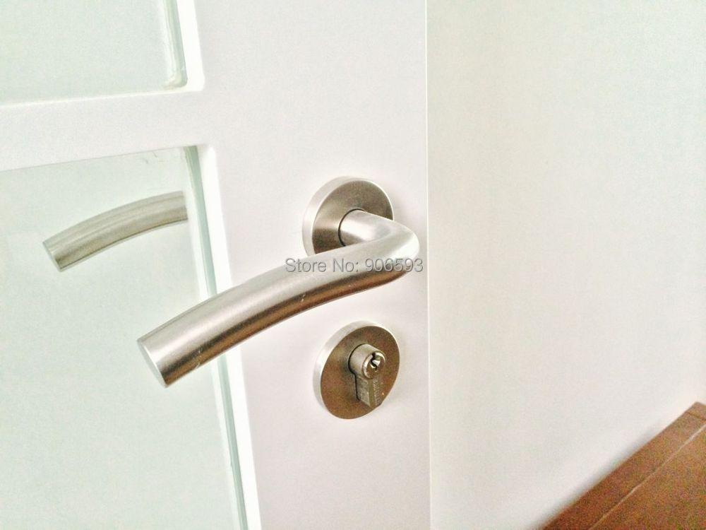6pairs free shipping Modern stainless steel classic ocean wave door handle/door locks/lever door handle/locks<br>