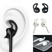 Buy New Replacement Soft Silicone Antislip Ear Cover Hook bluetooth Earphone Earbuds Tips Earphone Case protector Apple AirPods for $1.25 in AliExpress store