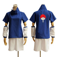 japanese anime naruto Uchiha Sasuke cosplay costume for boy kid cheap carnival costumes Halloween party dress(China)