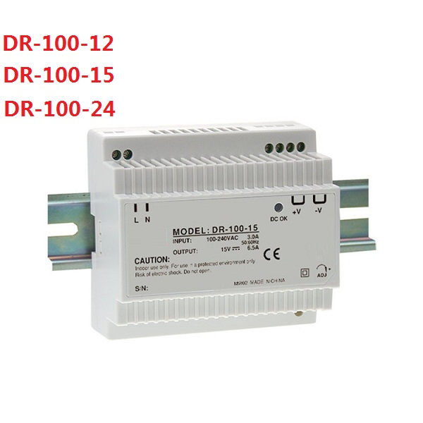 DIN Rail DR-100-12 100W 12V 7.5A Single Output Switching Power Supply Full Range AC Input<br>