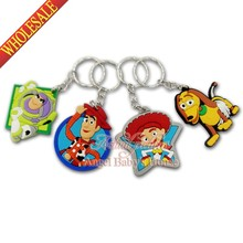 Wholesale 100PCS toy story 2D PVC Cartoon Pendants Charms For Keychains Key Rings Necklace Cellphone bag Accessories Gifts
